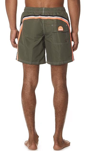 SUNDEK Fixed Waist Long Board Shorts
