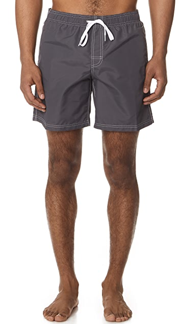 SUNDEK Fixed Waist Long Board Shorts