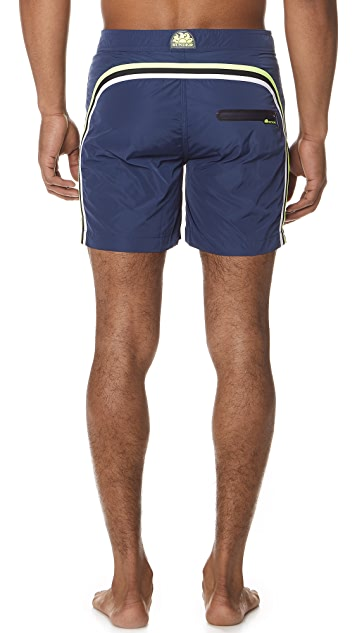 SUNDEK Long Swim Shorts with Fixed Waistband