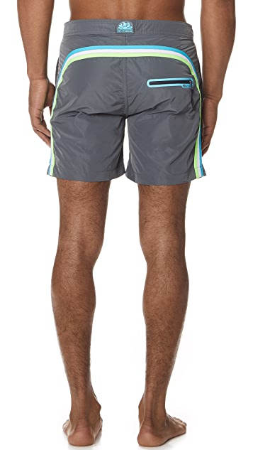 SUNDEK Long Swim Shorts with Fixed Waistband