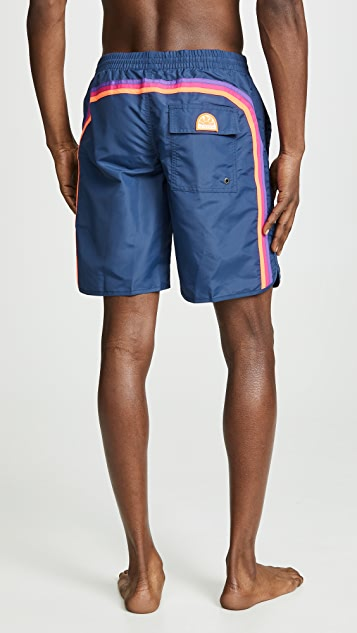 SUNDEK Elastic Round Swim Trunks