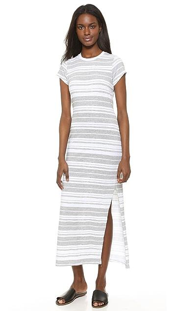 1c4e838ae900f SUNDRY Thin Stripes Slit Tee Dress   SHOPBOP