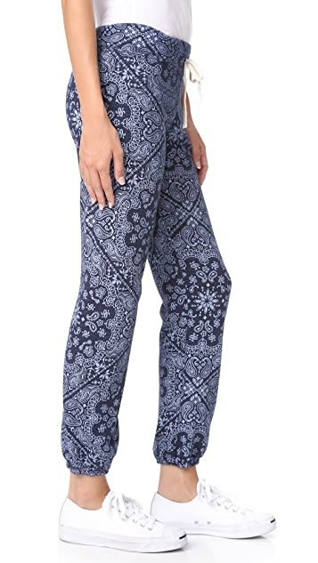 SUNDRY Bandana Pattern Sweatpants