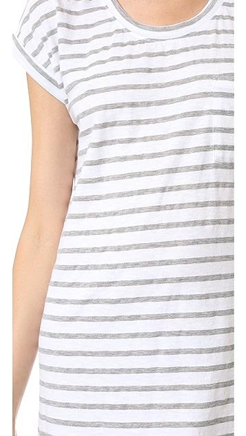 SUNDRY Roll Sleeve Dress