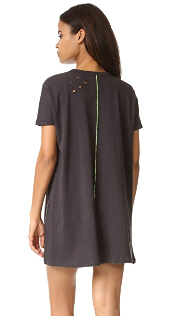 SUNDRY Painted Tunic Tee Dress