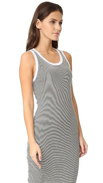 SUNDRY Stripe Midi Dress