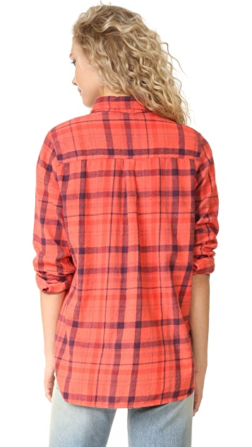 SUNDRY Plaid Basic Shirt