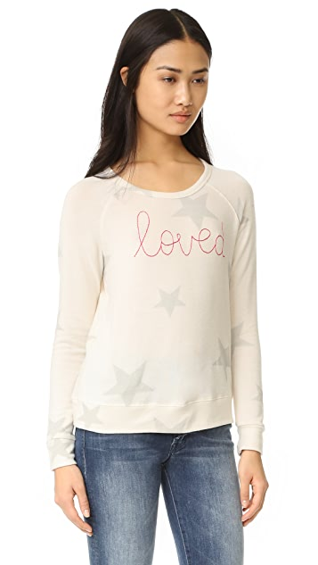 SUNDRY Loved Star Pullover