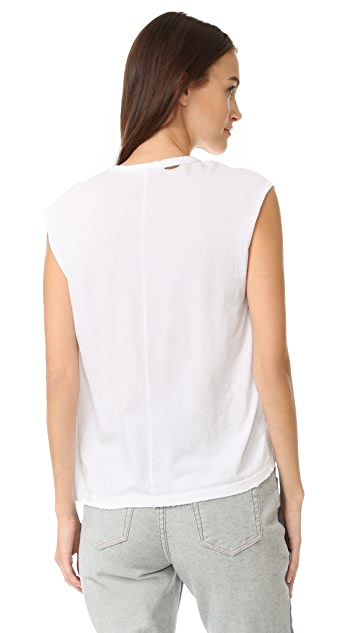 SUNDRY Let's Get Lost Sleeveless Tee