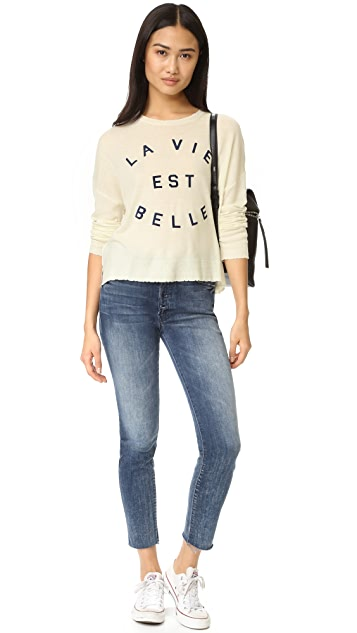 SUNDRY La Vie Crew Neck Sweater
