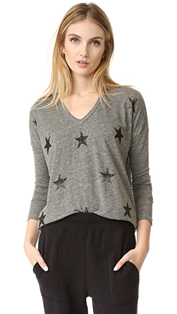 SUNDRY Stars V Neck Shirt