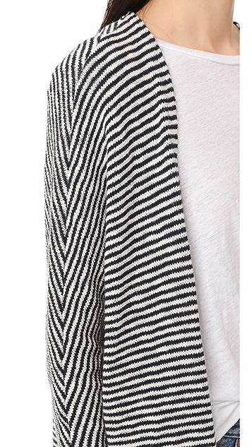 SUNDRY Striped Cardigan