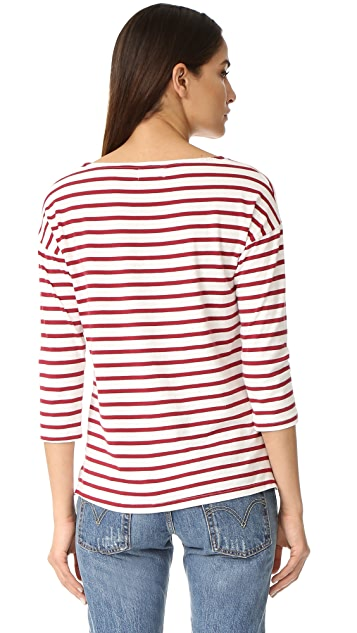 SUNDRY Almost French Stripe Tee