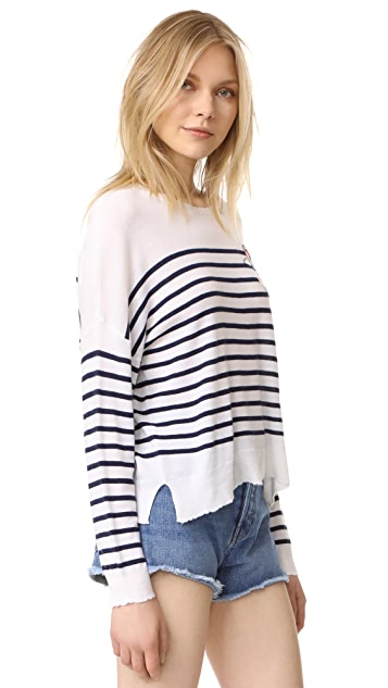 SUNDRY Patches Sweater
