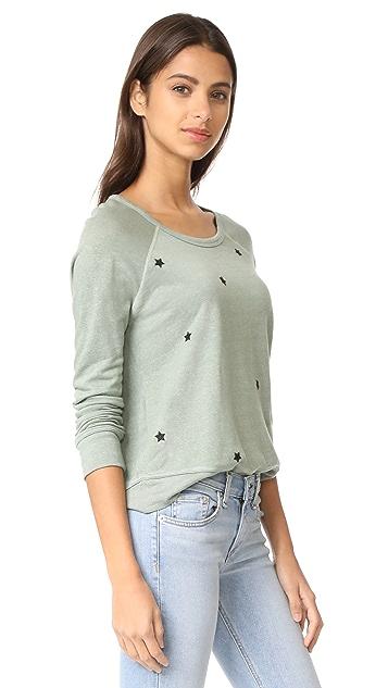 SUNDRY Star Patches Sweatshirt