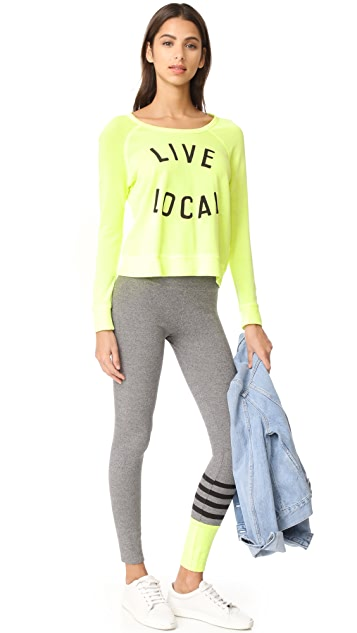 SUNDRY Live Local Crop Pullover
