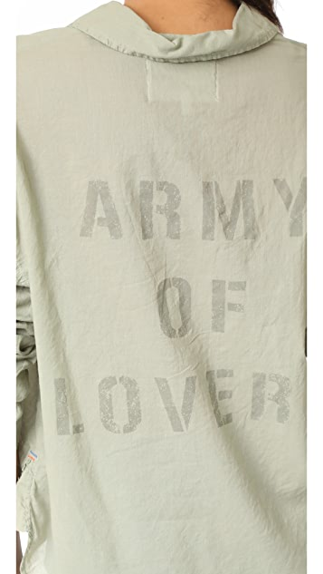 SUNDRY Army Of Lovers Henley Shirt