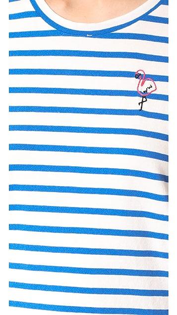 SUNDRY Flamingo Short Sleeve Tee
