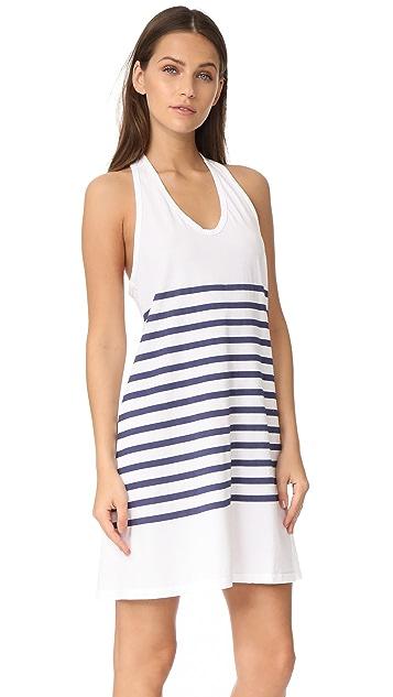 SUNDRY Stripes Racer Back Dress