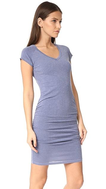 SUNDRY V Neck Dress