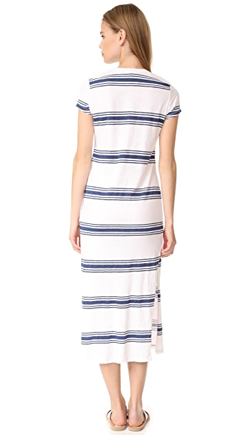 SUNDRY Scoop Neck Maxi Dress