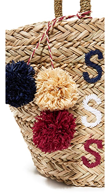 SUNDRY Sea Sun Salt Straw Bag