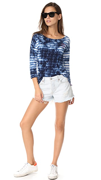 SUNDRY Mini Heart Pullover