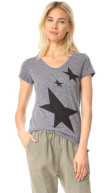 SUNDRY Stars Rotated Seam Tee