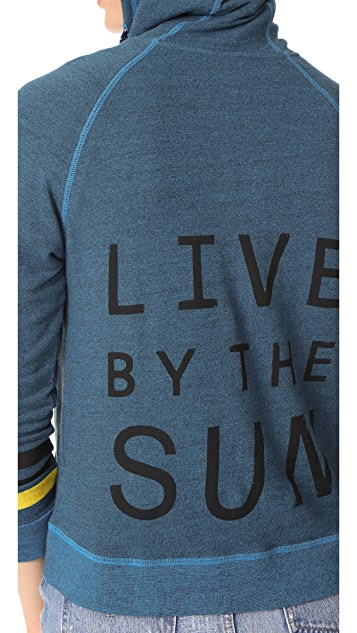 SUNDRY Live by the Sun Zip Hoodie