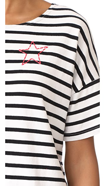 SUNDRY Mini Star Crew Neck Tee