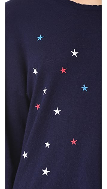 SUNDRY Scattered Star Pullover