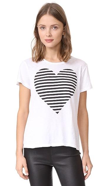 SUNDRY Striped Heart Boy Tee