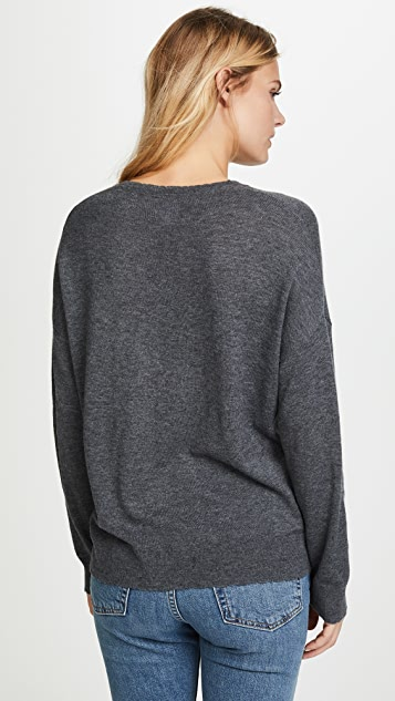 SUNDRY Peace Crew Neck Sweater