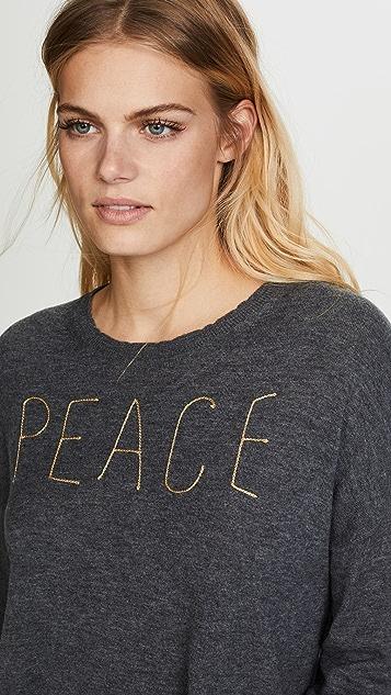 SUNDRY Peace Crew Neck Sweater