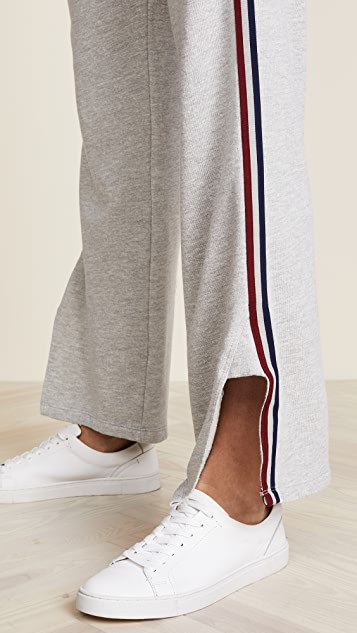 SUNDRY Track Pants with Stripe Trim