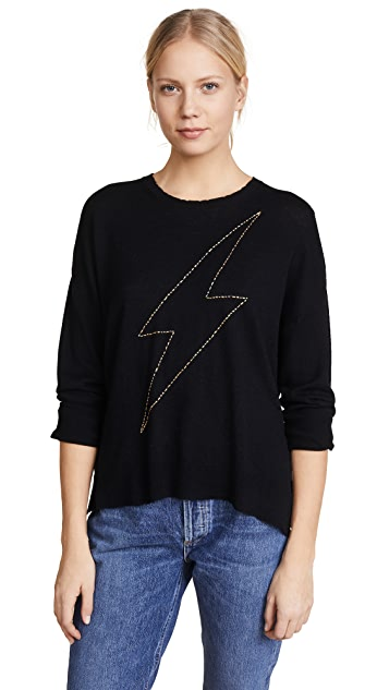 SUNDRY Metallic Bolt Crewneck