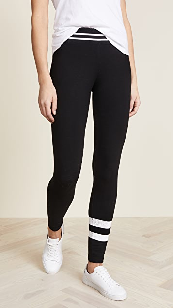 SUNDRY Yoga Pants with Stripes