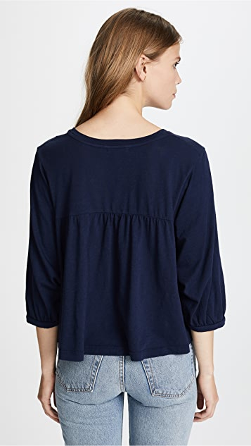 SUNDRY Mini Hearts Babydoll Top