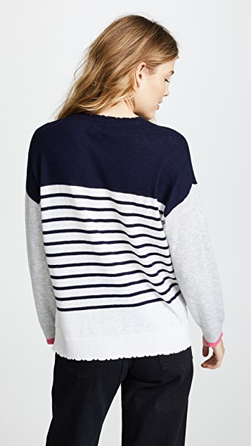 SUNDRY Colorblock Stripes Sweater