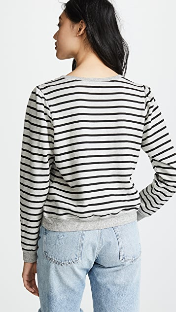 SUNDRY Princess Sleeve Sweatshirt