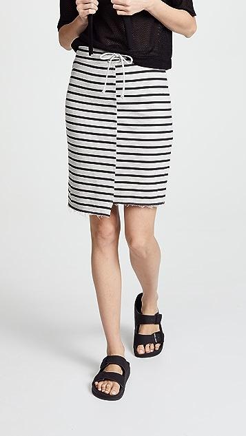 SUNDRY Uneven Hem Skirt