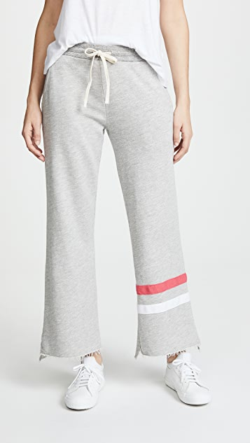 SUNDRY Flare Sweats - Heather Grey