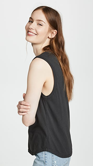 SUNDRY Love Life Muscle Tank