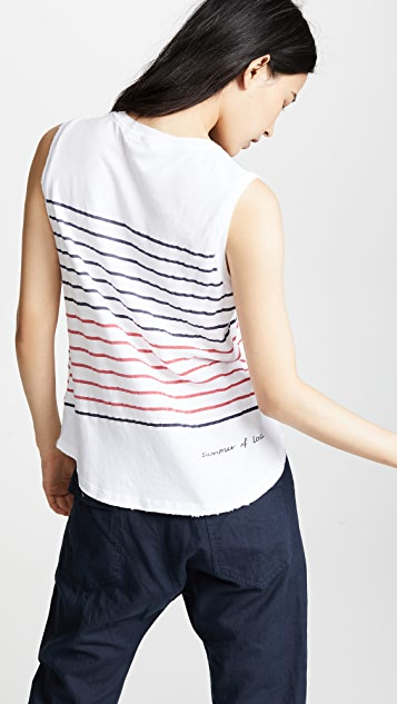 SUNDRY Summer of Love Muscle Tank Top