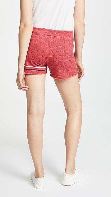 SUNDRY Stripes Cut Off Shorts