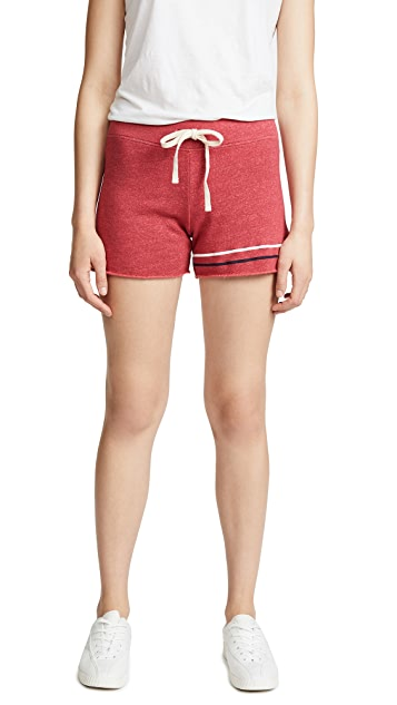 SUNDRY Stripes Cut Off Shorts