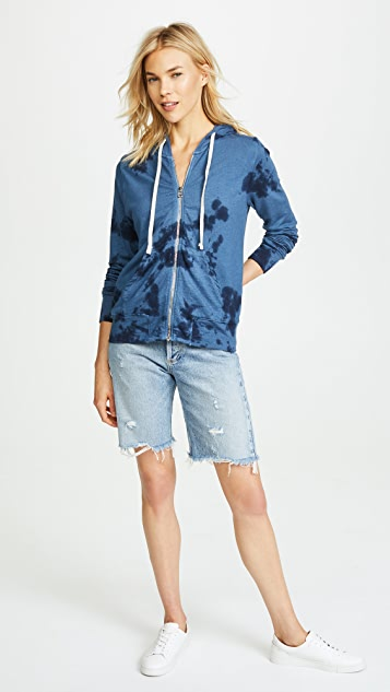 SUNDRY Free As The Ocean Zip Hoodie