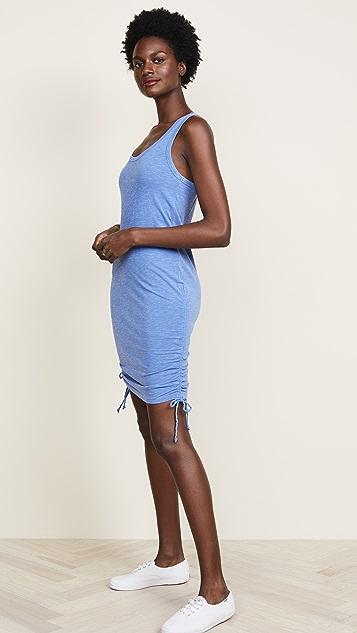 SUNDRY Racerback Side Shirred Dress