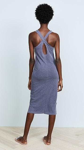 SUNDRY Cross Back Midi Dress