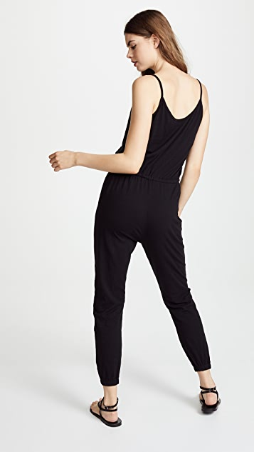 SUNDRY Drawstring Jumpsuit